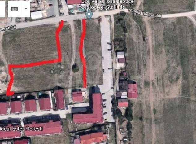 Vanzare teren 1800 mp, 68 euro/mp, Floresti - imaginea 1