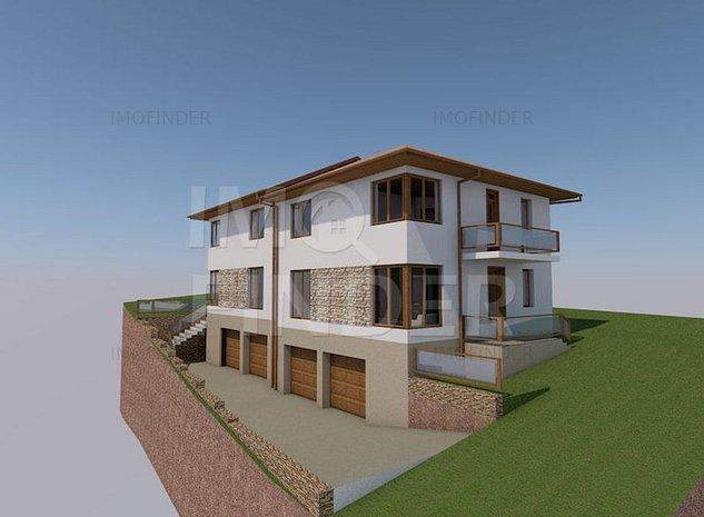 Vanzare teren cu autorizatie 2 case S+P+E, Zona Campului, Manastur - imaginea 1