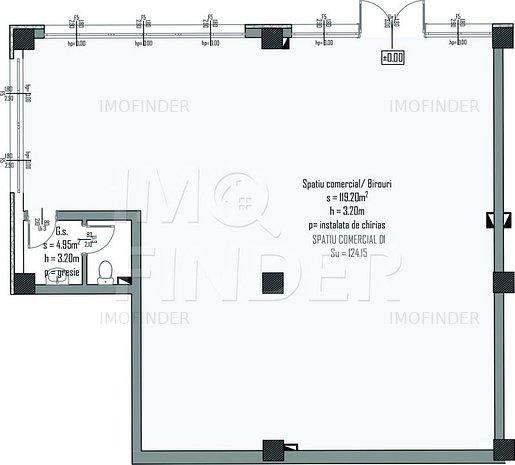 Vanzare spatii comerciale/ birouri  imobil nou, zona Centrala, 124 mp - imaginea 1