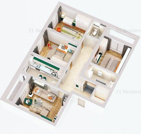 Apartament cu 4 camere in 21 Residence Politehnica - imaginea 1
