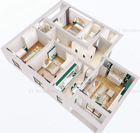 Apartament cu 4 camere in 21 Residence Politehnica - imaginea 2