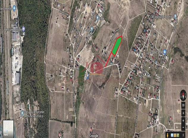 Teren cu proiect + autorizație pentru locuințe înșiruite (EXCLUSIVITATE) - imaginea 1