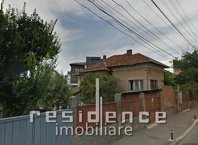 Teren pentru bloc 10ap cu casa demolabila 600mp, front 25m - imaginea 1