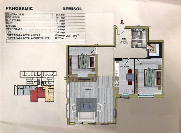 Spatiu de birouri 3 camere 100 mp zona Avantgarden 1 Brasov - imaginea 1