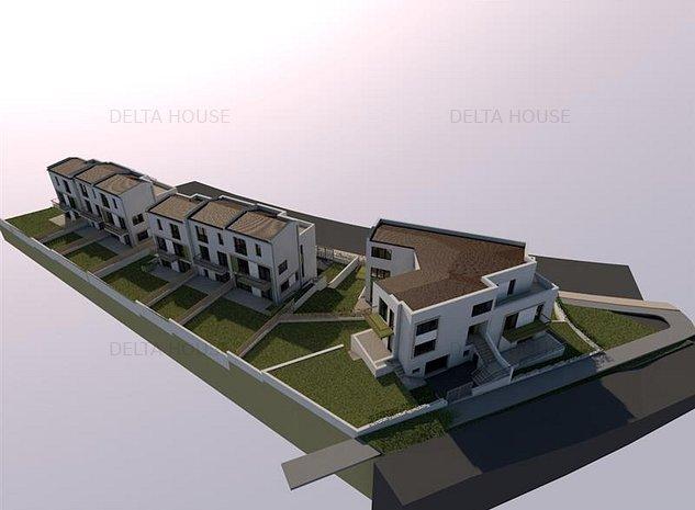 Oportunitate de investitie! Teren in Borhanci cu proiect pentru 3 case alipite! - imaginea 1