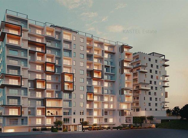 NOU! Apartament 2 Camere   Terasa 20 mp   Complex 4 Elemente - imaginea 1