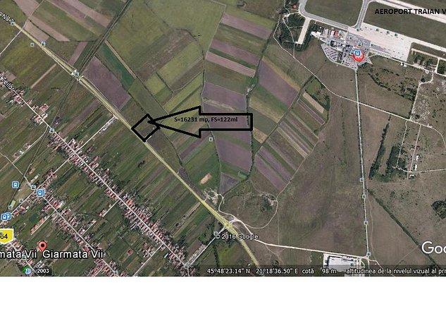Giarmata Vii, centura , teren arabil in intravilan , S-16000 mp FS-122ml - imaginea 1