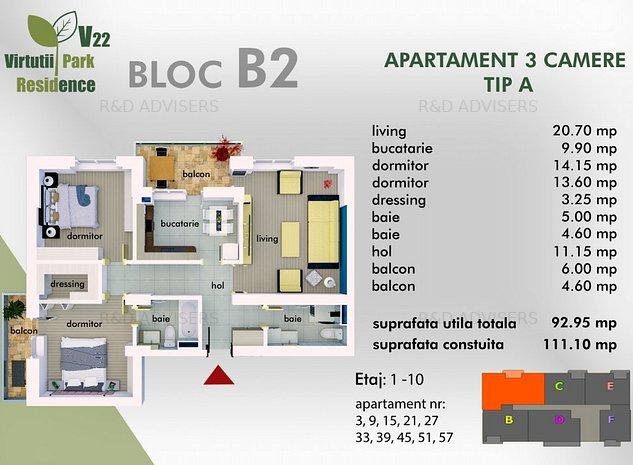 PROMOTIA LUNII Apartament cu 3 camere, decomandat si spatios, aproape de metrou - imaginea 1