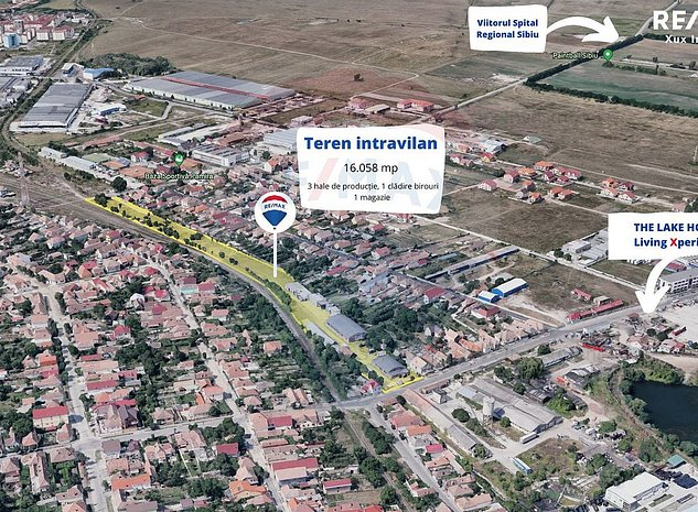 Teren 16.058 mp de vanzare in Sibiu, Strada Tractorului - imaginea 1