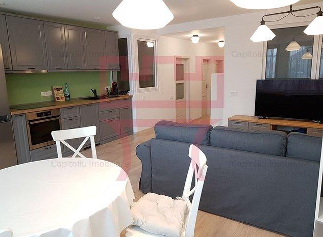 Inchiriere apartament 3 camere terasa 2 garaje central Dorobantilor - imaginea 1