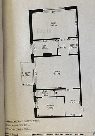 OP1028 Tipografilor,Apartament 2 Camere,Etaj Intermediar - imaginea 1