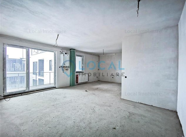 Vanzare apartament 2 camere bloc nou cu CF, semifinistat - imaginea 1