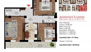 Apartamente Popeşti-Leordeni, Sud