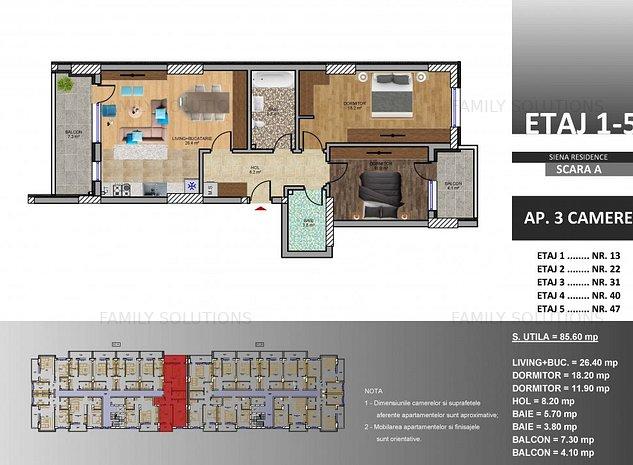 Apartament 3 camere,Metrou Berceni - imaginea 1
