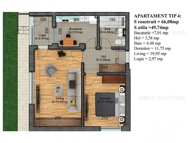 Apartament + curte 2 camere,Gata de Mutare - imaginea 1