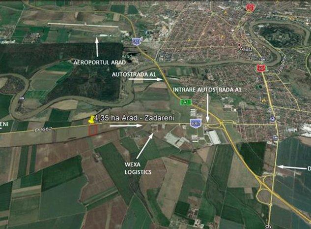 Teren cu potential industrial, 4,35 in Arad Zadareni - imaginea 1