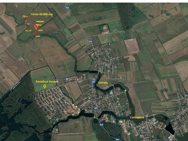 Corbeanca, Ostratu, Paradisul verde, teren 4 hectare - imaginea 1