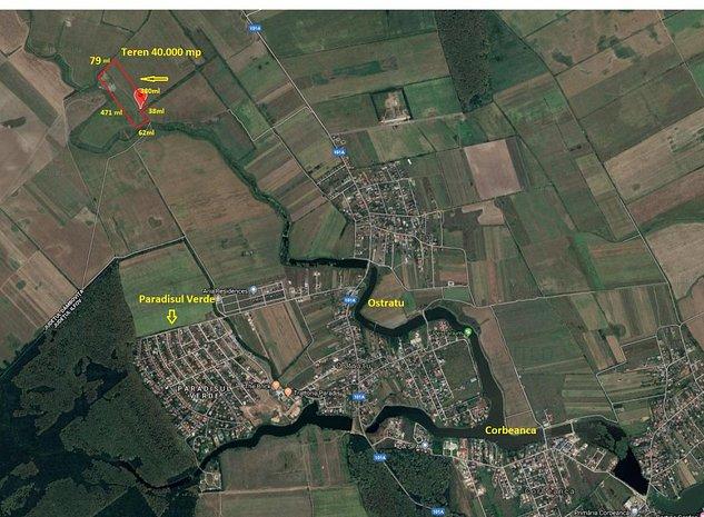 Corbeanca, Ostratu, Paradisul verde, teren 4 hectare. - imaginea 1