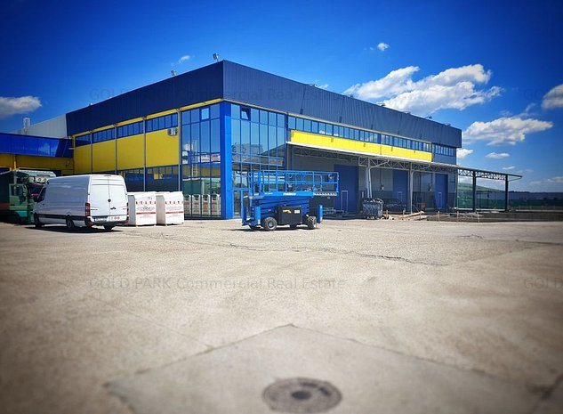 Spatiu Industrial-Hala-Zona Autostrazii-Birouri/Curte Betonata/Rampa - imaginea 1