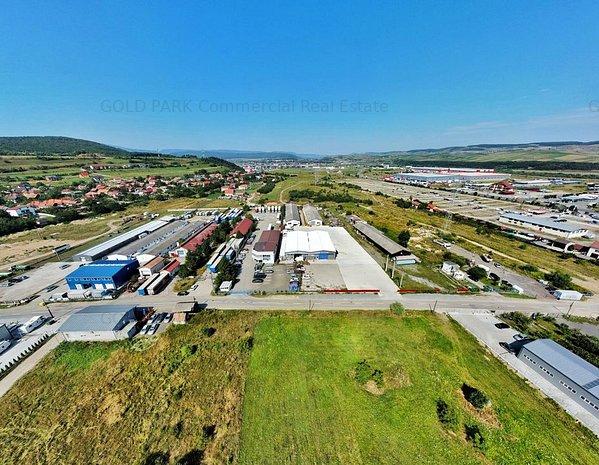 Spatiu Industrial/Hala -Zona Autostrada A3 -Curte Betonata/Acces TIR - imaginea 1