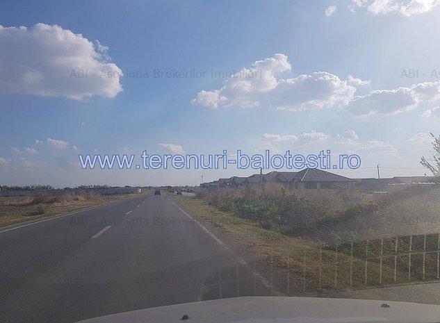 Teren la asfalt in Balotesti,langa noua centura - imaginea 1