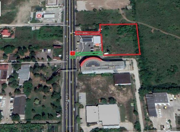 Vanzare/inchiriere teren stradal DN1, Otopeni, Aeroport - imaginea 1