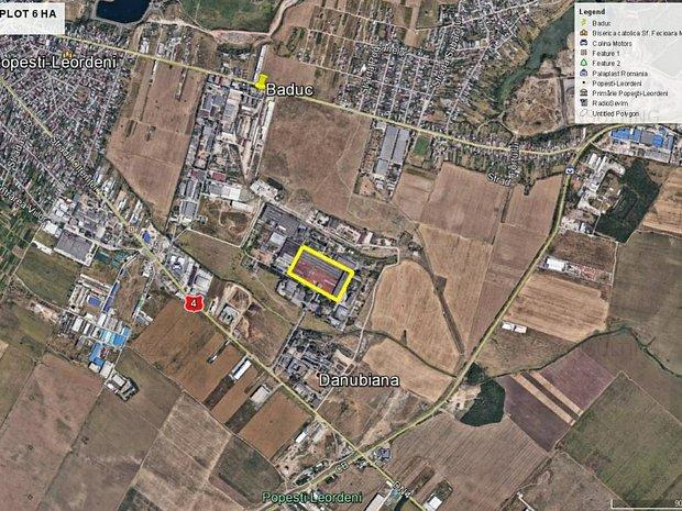 teren industrial Danubiana, parcelabil, acces la transport in comun - imaginea 1