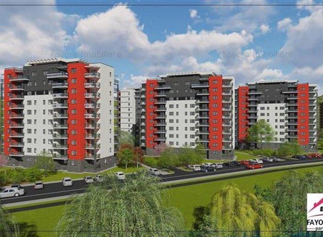 Apartament 2 Camere Tip A2.2 de Vanzare in Ansamblul Green Residence - imaginea 1