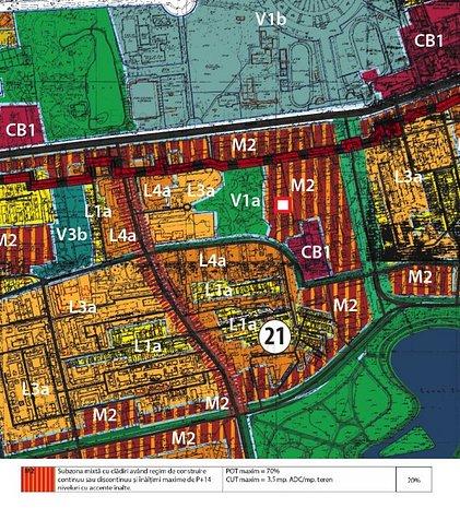 MUNCII - BASARABIA, zona M2, POT 70%, deschidere 27ml - imaginea 1