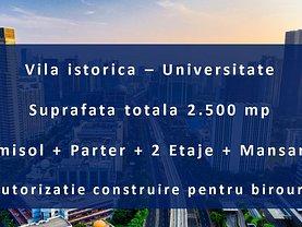 Casa de vânzare 20 camere, în Bucuresti, zona Universitate