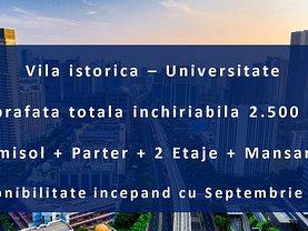 Casa de închiriat 20 camere, în Bucuresti, zona Universitate