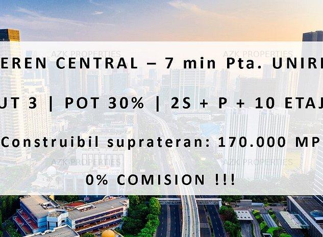 COMISION CUMPARATOR 0% - Teren Central CUT 3 | Construibil 170.000 MP - imaginea 1