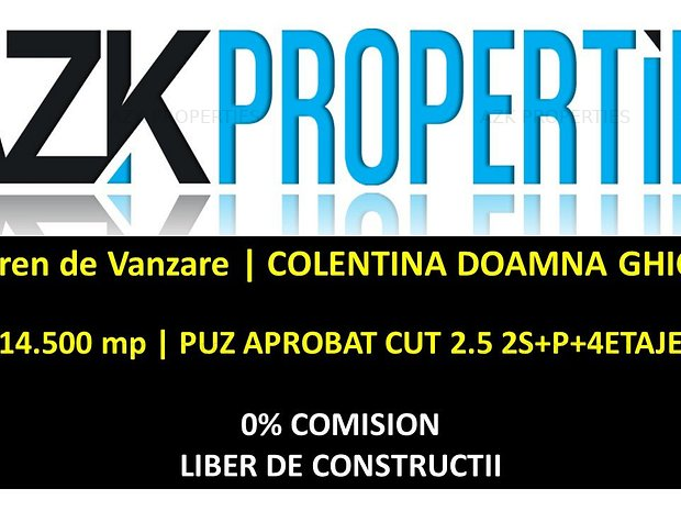 COMISION 0% - Teren Coletina Doamna Ghica   PUZ Aprobat CUT 2.5 - imaginea 1