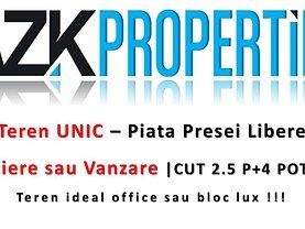 Teren constructii de vânzare, în Bucureşti, zona P-ta Presei Libere