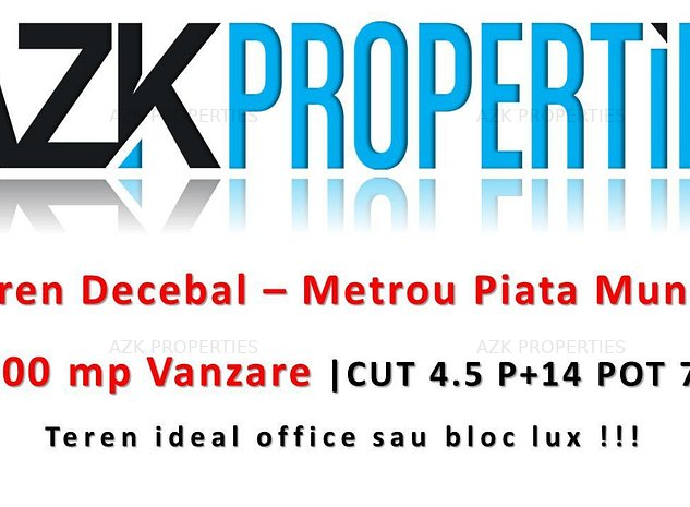Metrou - CUT 4.5 | Construibil 34.000 MP Suprateran - imaginea 1