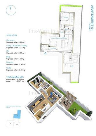 Apartament cu gradina proprie ! - imaginea 1