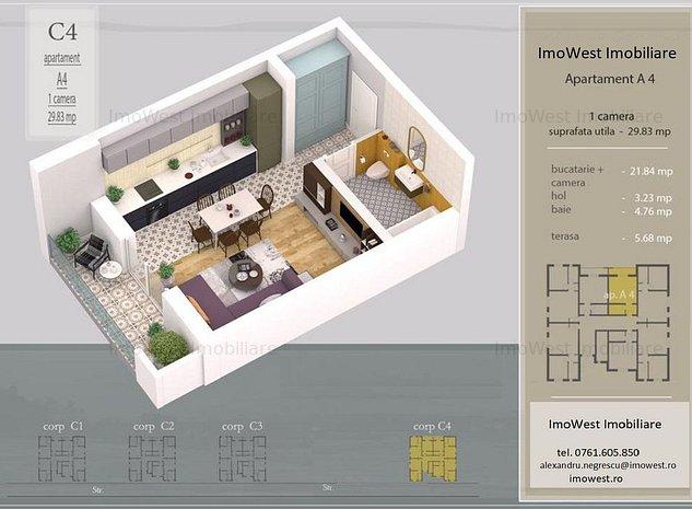 Giroc, Carrefour/Lidl, apartamente cu 1 si 2 camere - imaginea 1