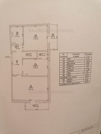 Bucovinei, 2 camere, model mare, 2 ap pe nivel - imaginea 1