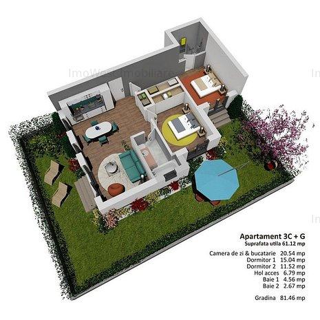 Apartamente cu gradina proprie, Proiect modernist ! - imaginea 1