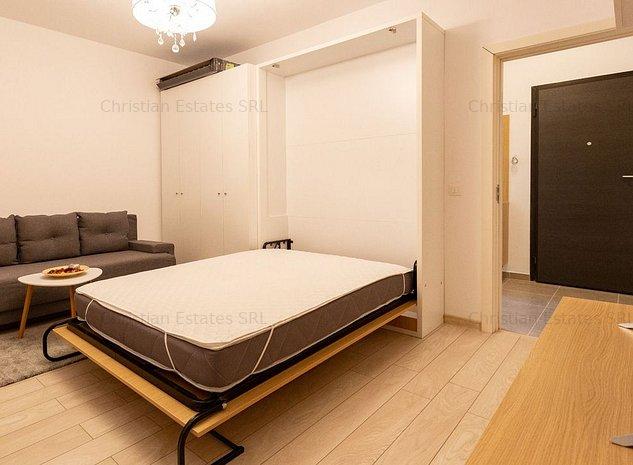 Garsoniera 45 mpu, Cotroceni - Smart Residence, pat rabatabil - imaginea 1