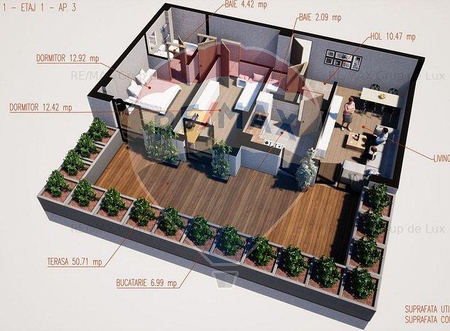 Apartament 3 camere   Comision 0 %   Terasa - imaginea 1