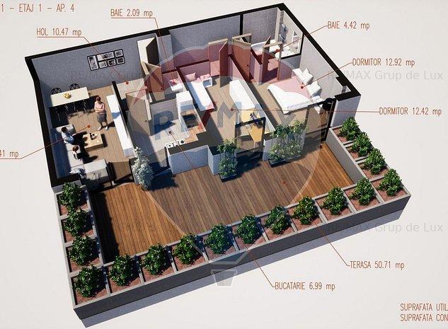 Apartament cu terasa | Comision 0 % | Pe Bulevardul Dem Radulescu - imaginea 1