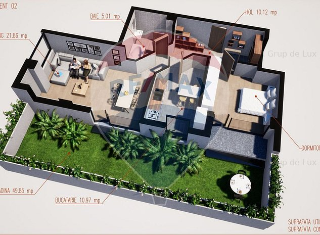 Inedit in Ramnicu Valcea | Apartament 2 camere cu gradina | Comision 0 % | - imaginea 1