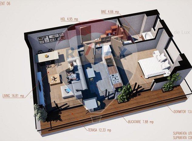 Apartament 2 Camere cu Terasa | Comision 0 % | Ramnicu Valcea | - imaginea 1