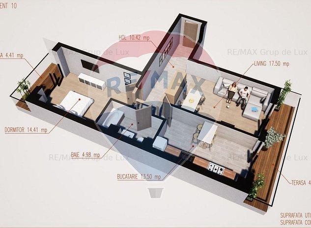 Apartament 2 camere | Arhitectura moderna | 0% Comision - imaginea 1