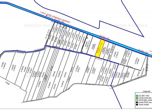 Sanmihaiu German -Parcela teren -5000 mp- intravilan- 40.000 Euro - imaginea 1