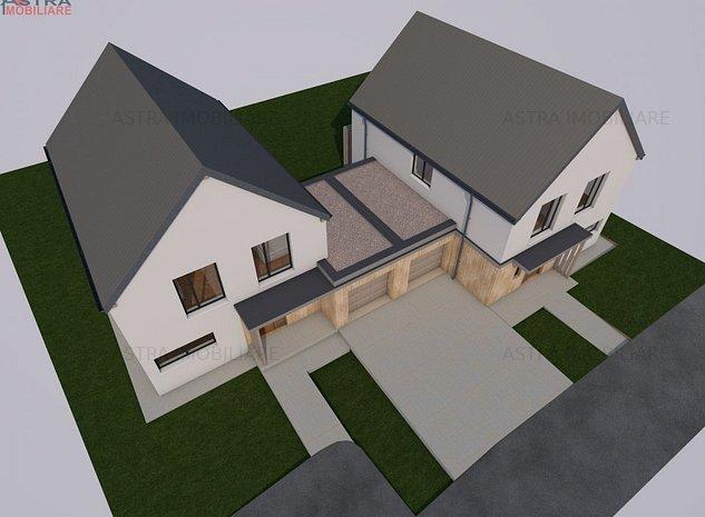 Casa individuala Feleacu! panorama, garaj, asfalt. - imaginea 1