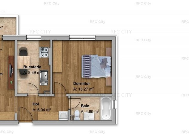 RECOMANDARE: 2 camere decomandat, geam la baie, loc de parcare inclus - imaginea 1