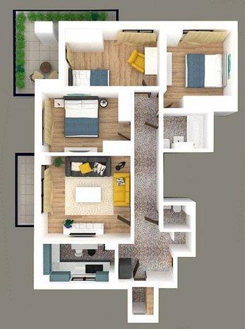 Apartament deosebit, 4 camere, Bd. Iuliu Maniu, renovat, comision 0% - imaginea 1