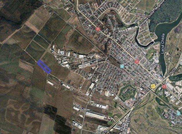 Vanzare teren Chitila, 22.725 mp, zona industriala, comision 0% - imaginea 1